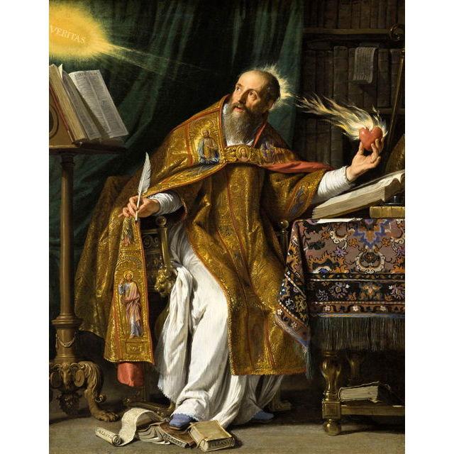 Philippe de Champaigne-16-Saint Augustine (1645-1650) 62.2x78.7