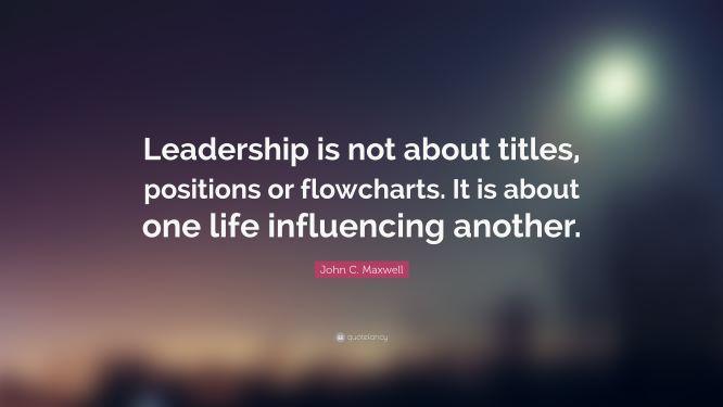 leadershipnot positionS