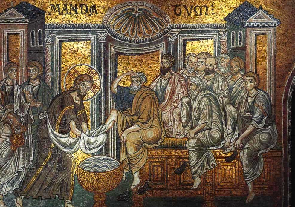Christ_washes_apostles'_feet_(Monreale)